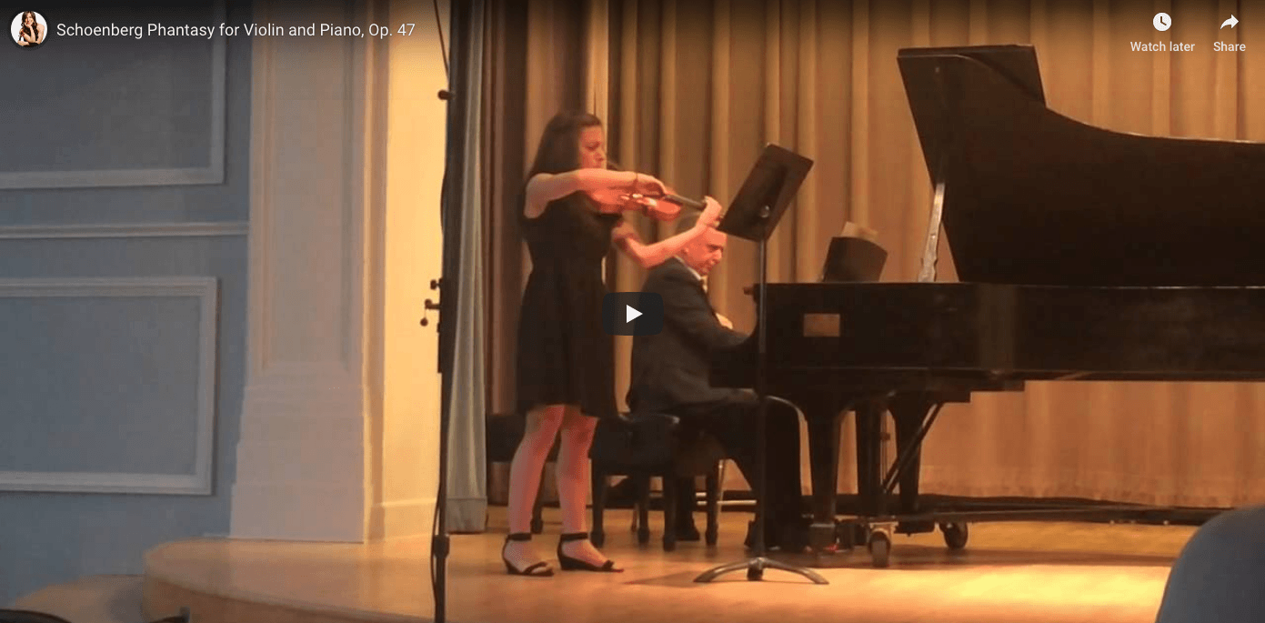 Schoenberg Phantasy for Violin and Piano, Op. 47